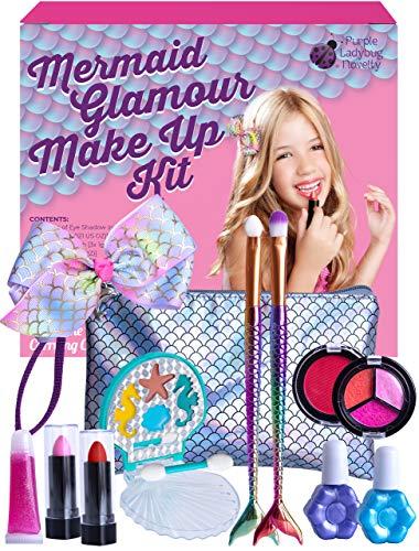 Purple Ladybug Make Up Set Meerjungfrau für Mädchen - Sicheres und Abwaschbares Barbie...