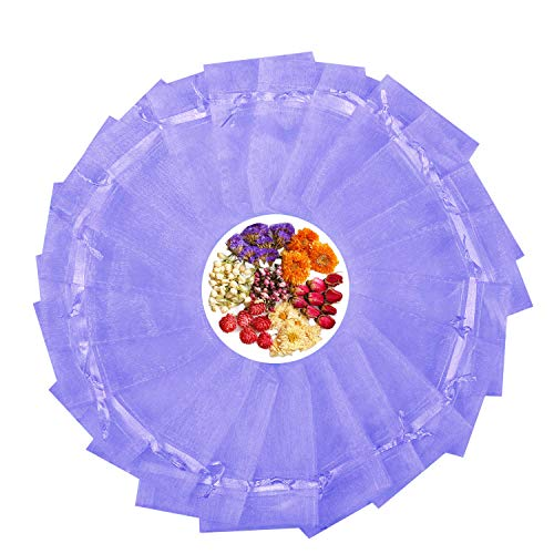 TooGet Empty Drawstring Organza Sachets Wedding Gift Bags & Pouches, Purple - 100PCS