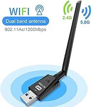 USB Wifi Adapter 1200Mbps Techkey WirelessNetwork Adapter USB 3.0 Wifi Dongle 802.11 ac..