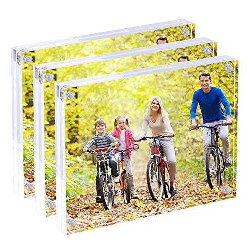 Display4top Acrílico Transparente Imágenes Marcos,Marcos de Foto Acrílicos,Regalo de Cumpleaños y Vacaciones (15x20 CM Paquete de 3)