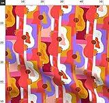 Gitarre, Musik, Streicher, Abstrakt, Kubistisch Stoffe -