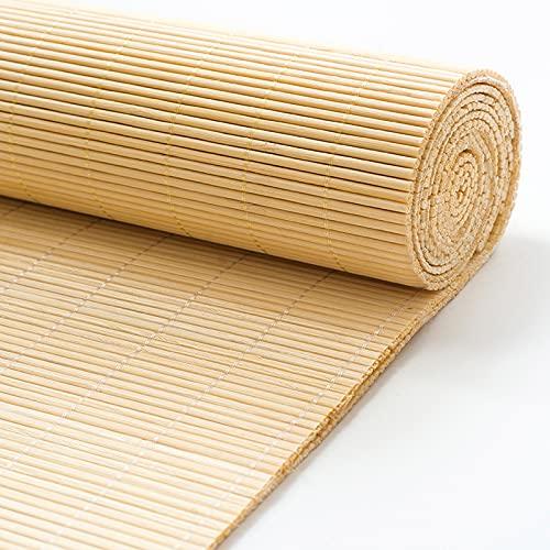 Estor de bambú, Estor Enrollable de bambú Natural,Persiana de bambú para Interior,Persiana Toldo Vertical Opacas,Cortinas Privacidad Protección,para Balcón,Pasillo,Salón de té (65x200cm/27x79in)