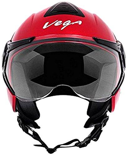 Vega Verve Open Face Helmet (Women's, Red, M)