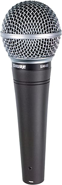 Shure SM48-LC Cardioid Dynamic Vocal Microphone