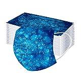 10-50 Piezas Adulto Navidad Bufanda,Moda Velo de Cómodo Transpirables con Impresión Copo de Nieve,Scarf Bandanas de Desechables