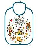 WAC 100% Made in Italy Baby-Baby-Lätzchen-Set - 6 Stück Große Größe 29 x 34cm mit elastischen KEINE Schnürsenkel. Verschiedene Fantasien