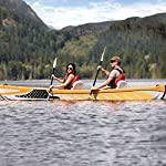 JNWEIYU Double Canoe Kayak, High-end Inflatable Boat, Brushed Material,2-Person Inflatable Kayak Set with Aluminum Oars… 11 Inflated size:Single 325 X 72cm , Double 425 x 78cm. Includes a high-output pump and aluminium oars. Capacity person maximum weight 120kg/200kg.