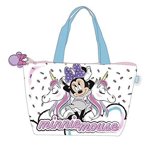 Disney Bolsa Playa 48x32cm De Minnie Mouse 'unicornio' Borsa da spiaggia 40 Centimeters Multicolore (Multicolore)