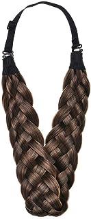 Braided Hair Band Headband Wig 5 Strands Synthetic Multi-Color Thick Headband Ladies Beauty Headwear (Brownish yellow)