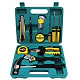 Shiratori Tool Set - General Household Hand Tool Kit with Plastic Toolbox Storage Case