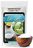 Aromasong Low Sodium Sea Salt - 100% Natural - 68% Less Sodium - Bulk 2.43 Lb Bag - Fine Grain Dead Sea Potassium Chloride with Dead Sea Salt - Used As Table Salt Substitute For Low Sodium Diet