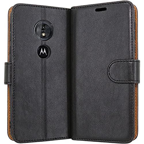 Coque portefeuille avec support pour Motorola Moto G6Play - Cuir synthétique - Fermeture magnétique - Protection complète
