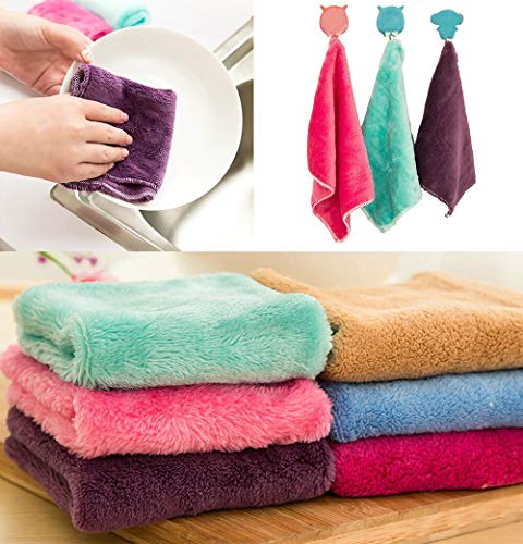 Terry Towel Anti-Grease Cloth Bamboo Fiber Washing Towel Magic Kitchen Cleaning Wiping Rags Microfibre Towel Toallas