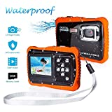 Waterproof Camera for Kids, FLAGPOWER Underwater Camera for Boys and Girls, 12MP HD Action Sport Camcorder with 2.0 Inch LCD Display 4X Digital Zoom 5MP CMOS Sensor 16G Memory Card Flash