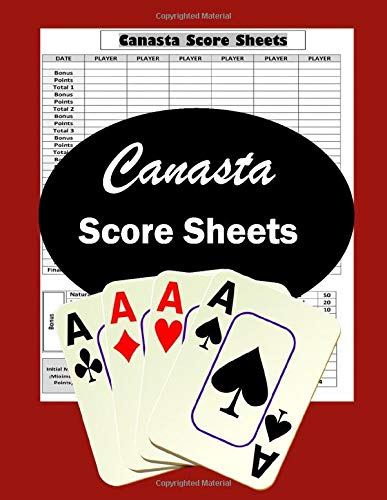Canasta Score Sheets: Scoring Pad for Canasta Card Game | Game Record Keeper Notebook | Point Reference on Scoring Pad | Score Keeping Book |Gift Idea 8.5