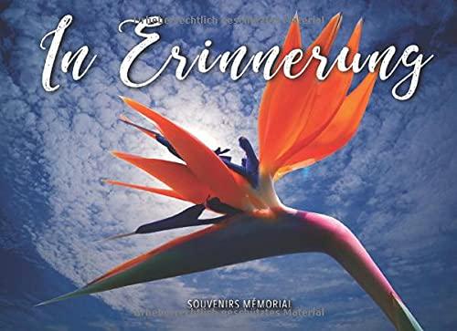 In Erinnerung: Begräbnis-Gästebuch (Orange purpurrote Blume)