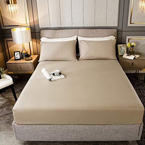 haiba Protector de colchón impermeable transpirable con correas de esquina, marrón, 120 x 200 cm+28 cm