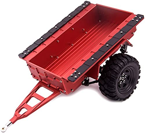 ZuoLan 1 Stück Rot 1 10 Aluminium Blattfeder Hitch Berg Anh er mit Rad for RC Crawler SCX10 CC01 F350 HILUX 90034 D90