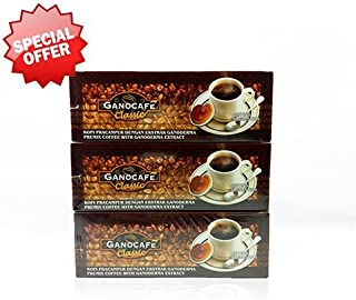 3 Boxes Gano Excel Ganocafe Classic Ganoderma Healthy Coffee 90 Sachets Free Shipping