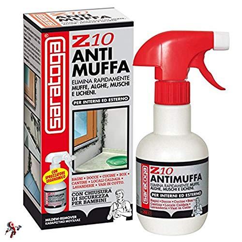 Spray antimuffa per muro Z10 Saratoga 500 ml antimuffa spray muro liquido antimuffa che combatte energicamente la formazione di muffe, alghe, muschi e licheni