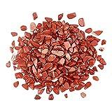 AHANDMAKER Jaspe rojo natural jaspe rojo chip cuentas a granel áspero piedra de jaspe rojo natural crudo jaspe rojo cuarzo para decoración del hogar collar colgantes haciendo