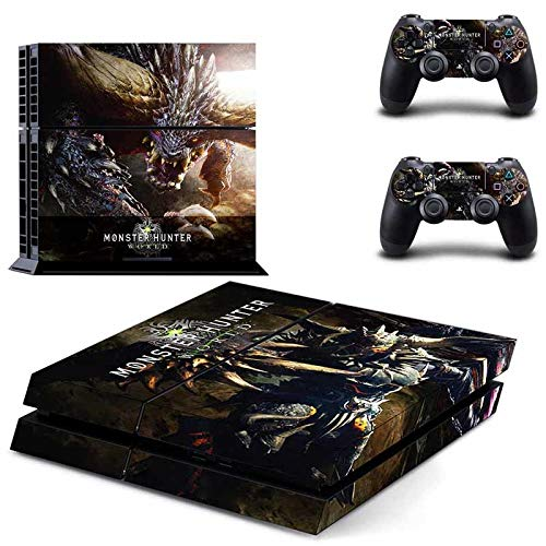 PS4 Console and 2 Controller Vinyl Skin Cover - Monster Hunter: World HD Printing by Mr Wonderful Skin