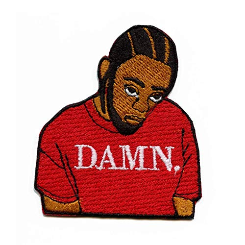 "Kendrick""DAMN"" Motif Iron On Embroidered Applique Patch"