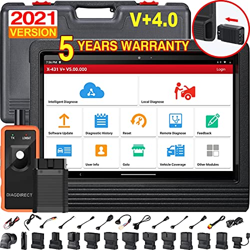 LAUNCH X431 V+ PRO Elite 4.0, 2021 Newest Bi-Directional Scan Tool, Upgraded Ver. of X431 PROS V, OEM All System & 31+ Service Automotive Scanner, ECU Coding, AutoAuth for FCA SGW, 2 Years Free Update