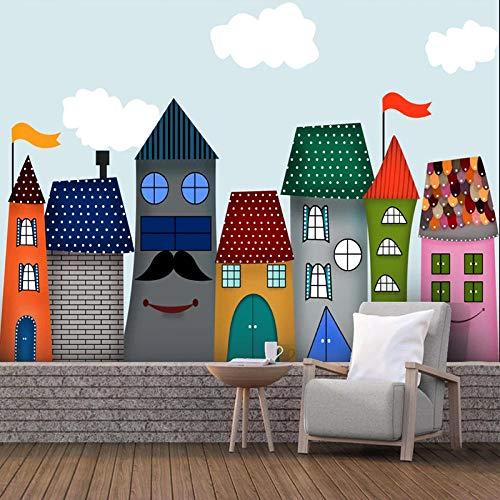 199Tdfc Cartoon Kasteel Aangepaste 3D Fotobehang voor Kinderkamer Kleuterschool Babykamer Slaapkamer Muurdecoratie 140x100cm