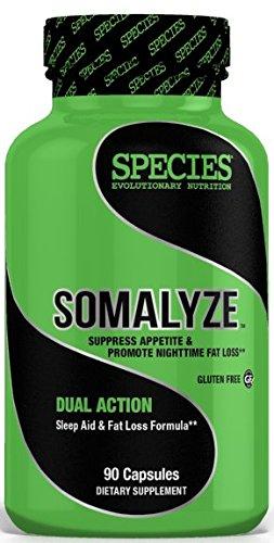 Species Nutrition Somalyze, Stimulant Free, Nighttime Sleep and Fat Loss Aid with Melatonin 90 Caps