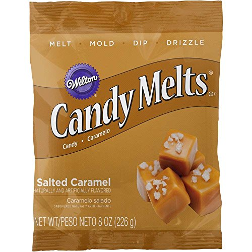 Wilton 1911-9481 Salted Caramel Flavor Candy Melts, 8 OZ.