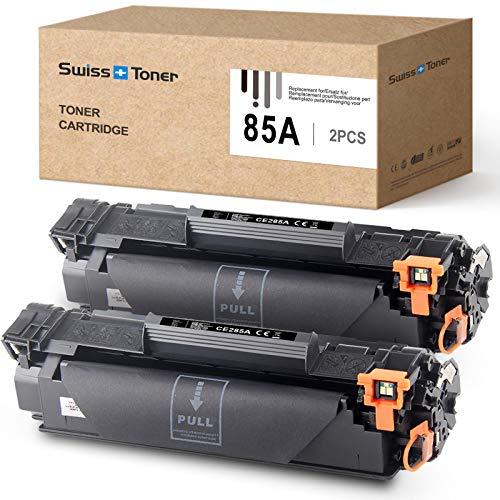 SWISS TONER Compatible para HP 85A CE285A Cartucho de tóner para HP Laserjet Pro P1102 P1102W M1212NF M1214NFH MFP M1217NFW M1132 M1210 M1130 Impresora,2xNegro