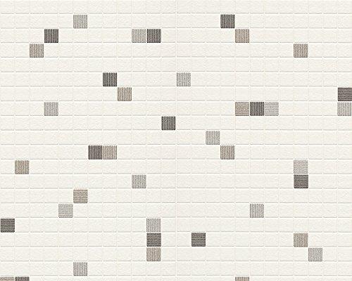 Livingwalls 607744 - Papel pintado para cocina o baño (imitación azulejos, no adhesiva)