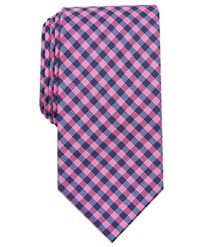 Nautica Herren Waves Plaid Krawatte, Rose, Einheitsgröße