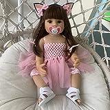 Zero Pam 55cm Anatomisch Korrekte Reborn Babypuppen Silikon Ganzkörper Mädchen Puppe Mit Kleidung Set Und Schnuller Set Spielzeug