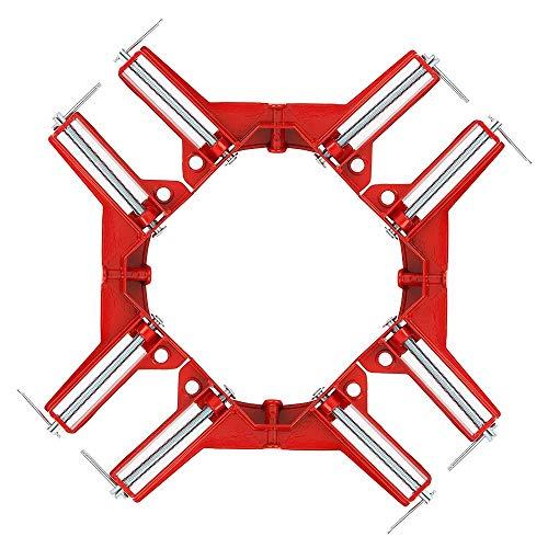 ZHITING Angulo recto Fabricación de marcos de cuadros Caja Abrazaderas de esquina Soportes Herramientas para carpintería (90 grados 75 mm / 3 pulgadas)