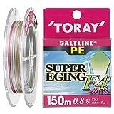 東レ(TORAY) PEライン ソルトラインPE スーパーエギングF4 150m 0.8号 12lb 4kg 4本 3色