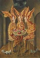 Remedios Varo ジクレー キャンバスに印刷 -有名な絵画 美術品 ポスター-再生 壁の装飾(野菜の吸血鬼)ビッグサイズ 56.2 x 80cm