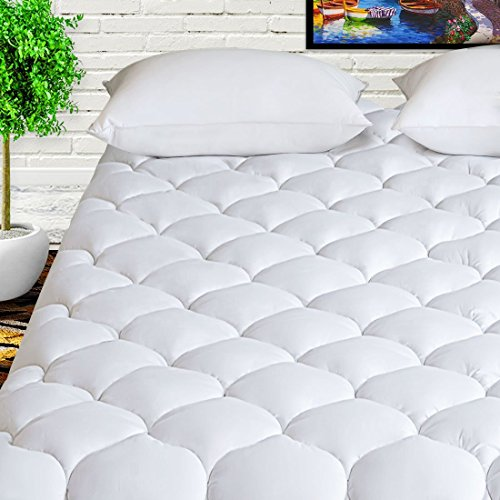 HARNY Mattress Pad Cover Queen Size 400TC Cotton Pillow Top...