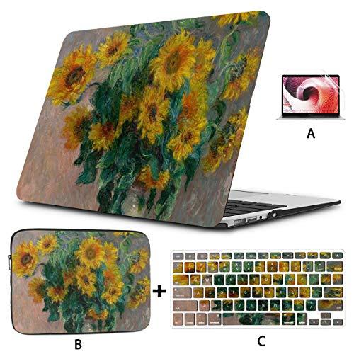 A1707 Custodia per Macbook Pro Bouquet Sunflowers di Claude Monet 1881 Custodia per Macbook Pro Custodia rigida per Mac Air 11   13  Pro 13   15    16 Con custodia per notebook per Macbook version