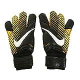 Nike GK Grip 3 Gants de gardien de but de football (Noir, orange laser), Homme femme mixte, Black, Laser Orange, White, 11