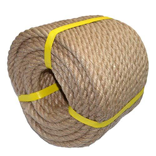 Outdoor Hanfseil, Jute Rope - 35mm / 40mm Dickes Seil, 5-10m - for Handwerk, Wasser, Landschaftsbau, Geländer, Hang Schwingen (Size : 40MM/10M)