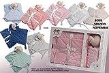 (Varios colores) Regalo recien nacido Bebe- Set varias piezas - Danielstore - (Manta + Dou dou marino)