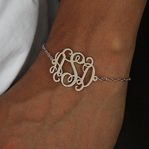 Personalized Monogram Bracelet - Gold Monogram Bracelet - Dainty Monogram Bracelet - Personalized Bracelet - Monogram Jewelry - Gift for her