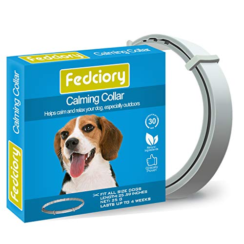 Fedciory Calming Pheromone Collar for Dogs Adjustable Collars with Long-Lasting Calm Effect Relieve Anxiety for All Small Medium and Large Dog (25 Inches)