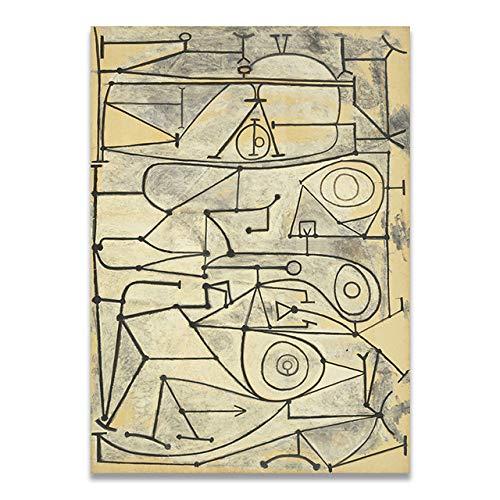 LiMengQi2 Colección de Arte clásico Lienzo Abstracto Pintura Pintura póster Imagen de la Pared Sala de Estar decoración del hogar (sin Marco)