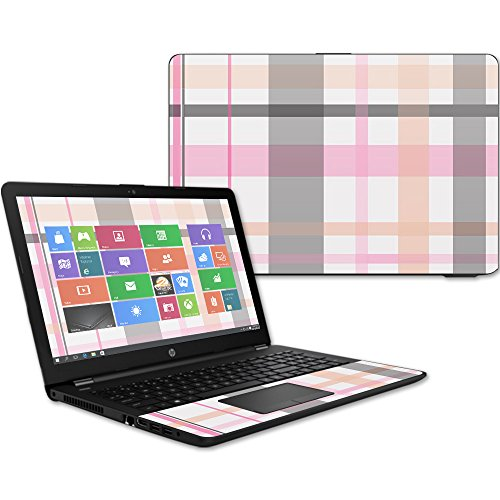 MightySkins Skin Compatible with HP 15t Laptop 15.6' (2017) - Plaid | Protective, Durable, and Unique Vinyl Decal wrap Cover | Easy to Apply, Remove, and Change Styles | Made in The USA
