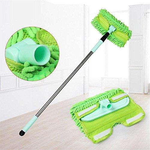 Car Cleaner Direction Car Wash Pratique Nettoyage Car Wash Scrub Acier Inoxydable Longue Poignée Voiture Brosse Vert