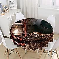 レトロランプロープ3Dラウンド防水テーブルクロス宴会テーブル装飾布ピクニックマット
