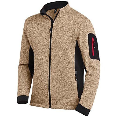 FHB Strickfleece Jacke atmungsaktiv, Farbe:Khaki, Größe:M